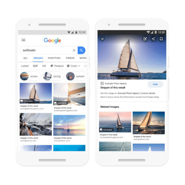Google officially launches 'licensable' image label and filter in Image search