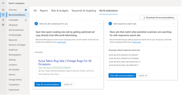 Microsoft Advertising introduces more automation via ad suggestions with auto-apply