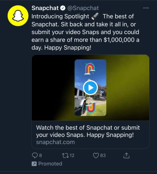 Social Shorts: Snapchat's TikTok rival is here, Facebook teams with BBB for ad reviews