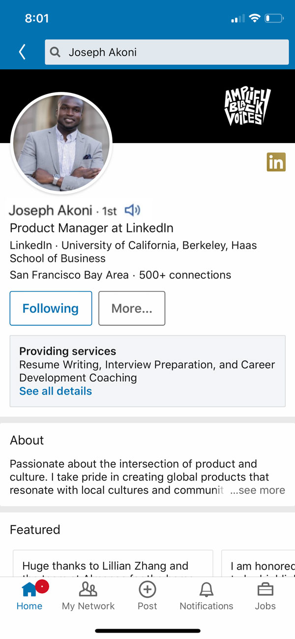 new feature in LinkedIn